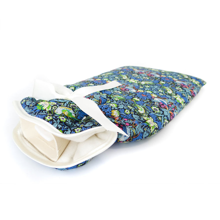 Gift for her, luxury fabric covered hot water bottle for her