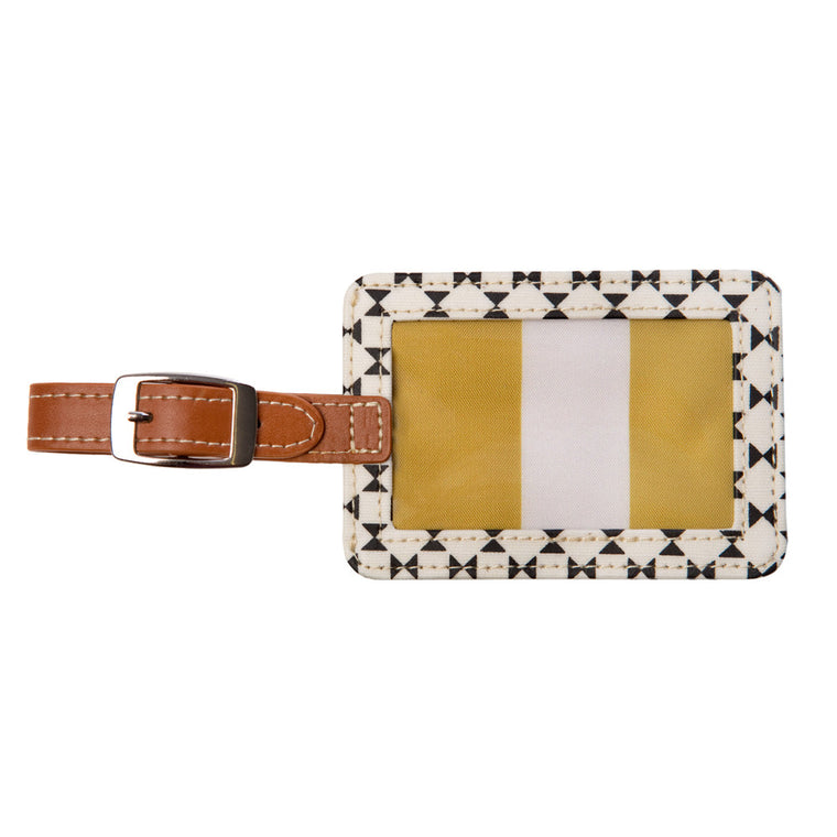 Gift for him, Gift for her, Caroline Gardner Geometric Luggage Tag
