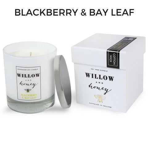 Blackberry and Bay Leaf Cotton Wick Candle 220g