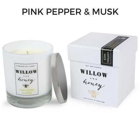 Pink Pepper & Musk Cotton Wick Candle 220g