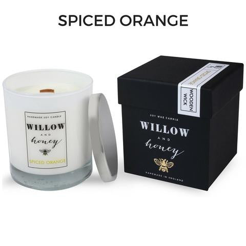 Spiced Orange Wooden Wick Candle 220g