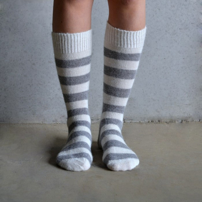 Tom Lane light stripe alpaca sock