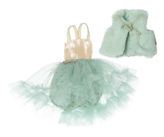 Best Friends Fur West and Ballerina Dress Mint