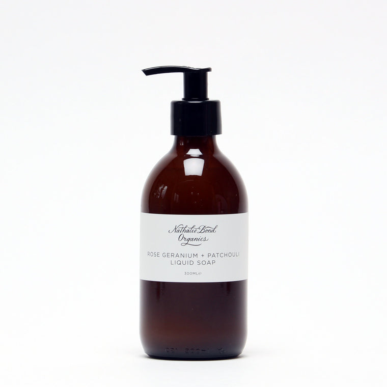 Liquid Soap - Rose Geranium and Patchouli