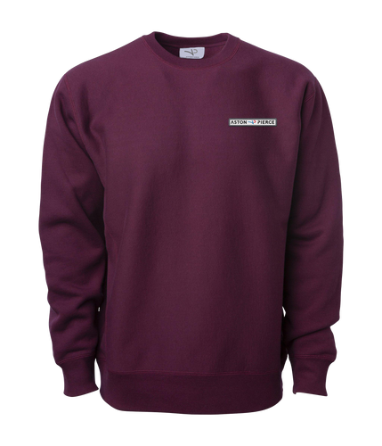 Aston Pierce Patch Logo Crewneck -> Burgundy