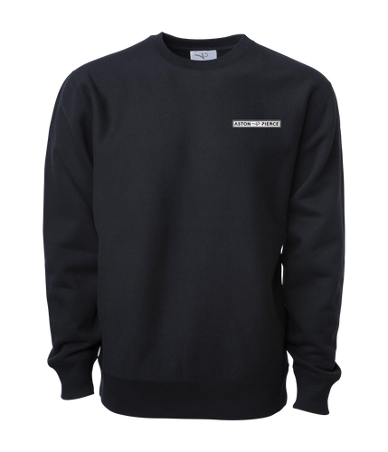 Aston Pierce Patch Logo Crewneck -> Navy