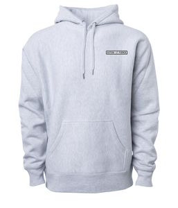 Aston Pierce Patch Logo Hoodie -> Heather Grey