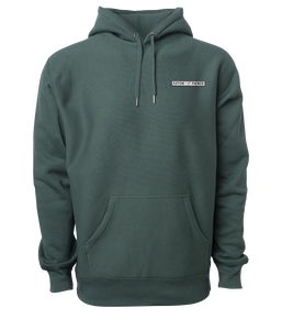 Aston Pierce Patch Logo Hoodie -> Pine Green