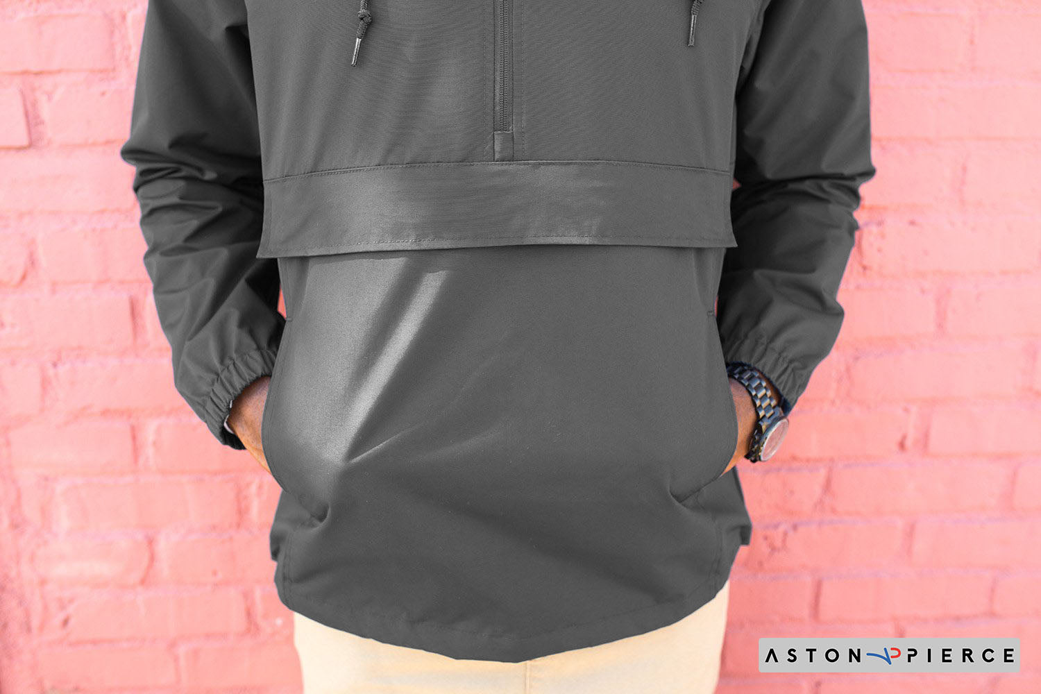 Aston Pierce Patch Logo Anorak Jacket - Aston Pierce