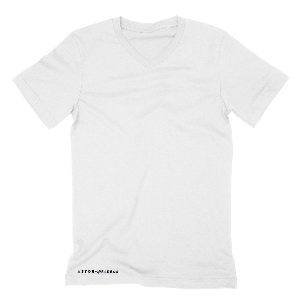 Aston Pierce Brand V-Neck T-Shirt (White)