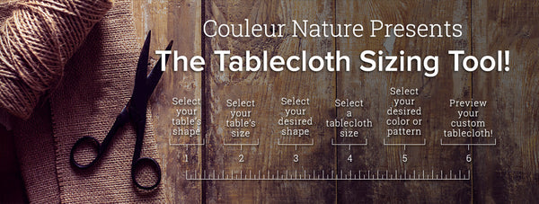 HOW TO CHOOSE THE RIGHT SIZE TABLECLOTH