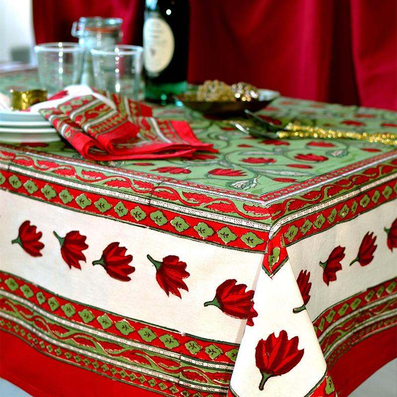 French Linen Tablecloth For Christmas