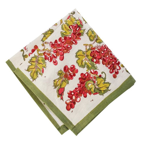 Set of 6 Merlot Grapevine Napkins