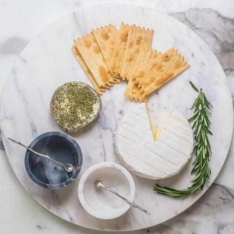 Marble Round Cheese Board & How To Create The Perfect French Cheese Board - CouleurNature