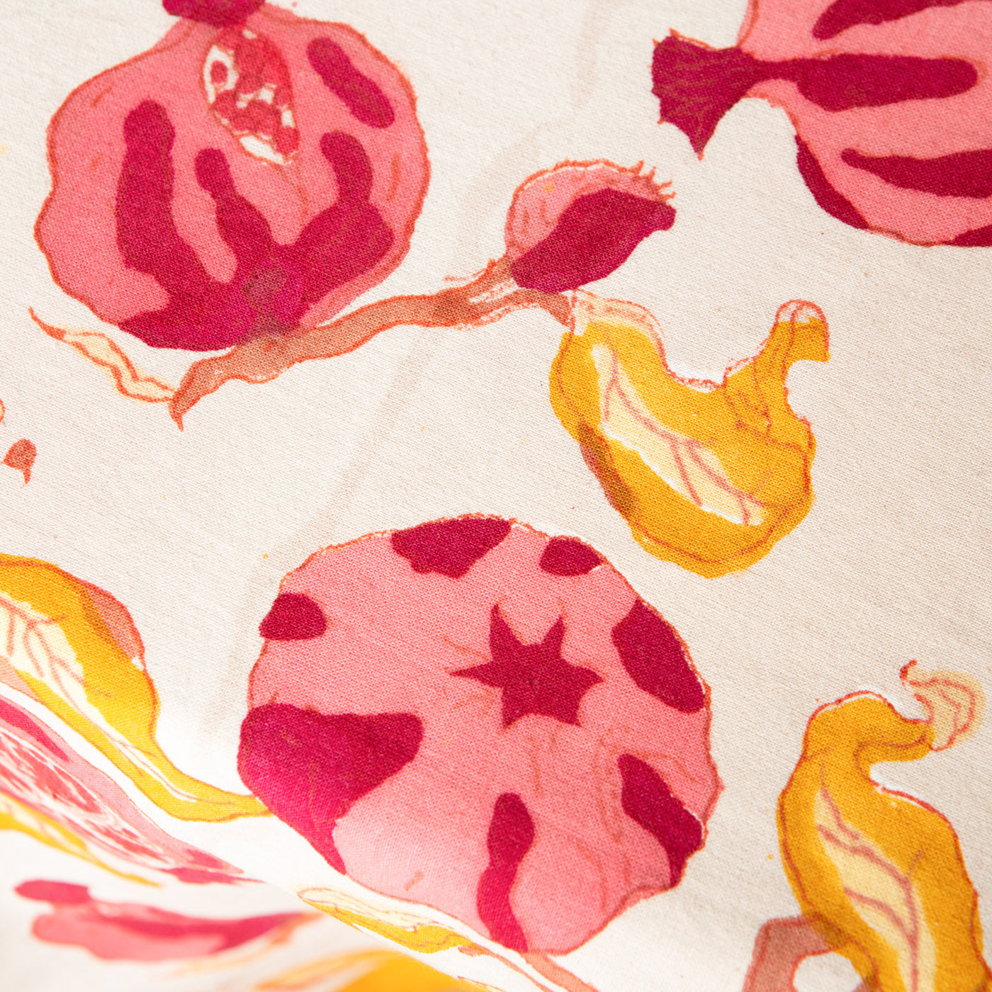 Tiny Pomegranates Tablecloth Watercolor Pomegranate by nikkilately Fruit  Simple Food Red Pink Cotton Sateen Tablecloth by Spoonflower