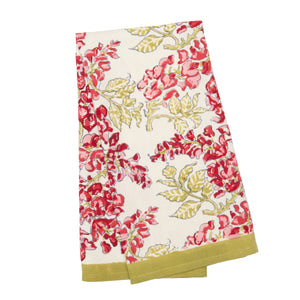 Wisteria Green & Pink Tea Towels, Set of 3