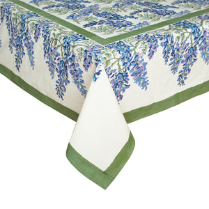 French Tablecloth Wisteria Green & Blue