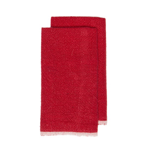 Chunky Linen Red Kitchen Towels, Set of 2