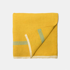 Laundered Linen Napkins Lime & Aqua, Set of 4