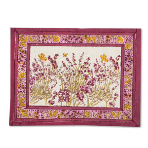 Papillon Placemats Rose, Set of 6