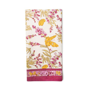 Papillon Tea Towels Rose, Set of 3