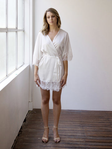Risky Business Robe - White