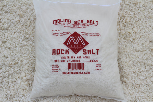 Molina Sea Salt ice melting rock salt | MolinaSeaSalt.com
