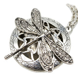 Dragonfly Locket Diffuser Necklace