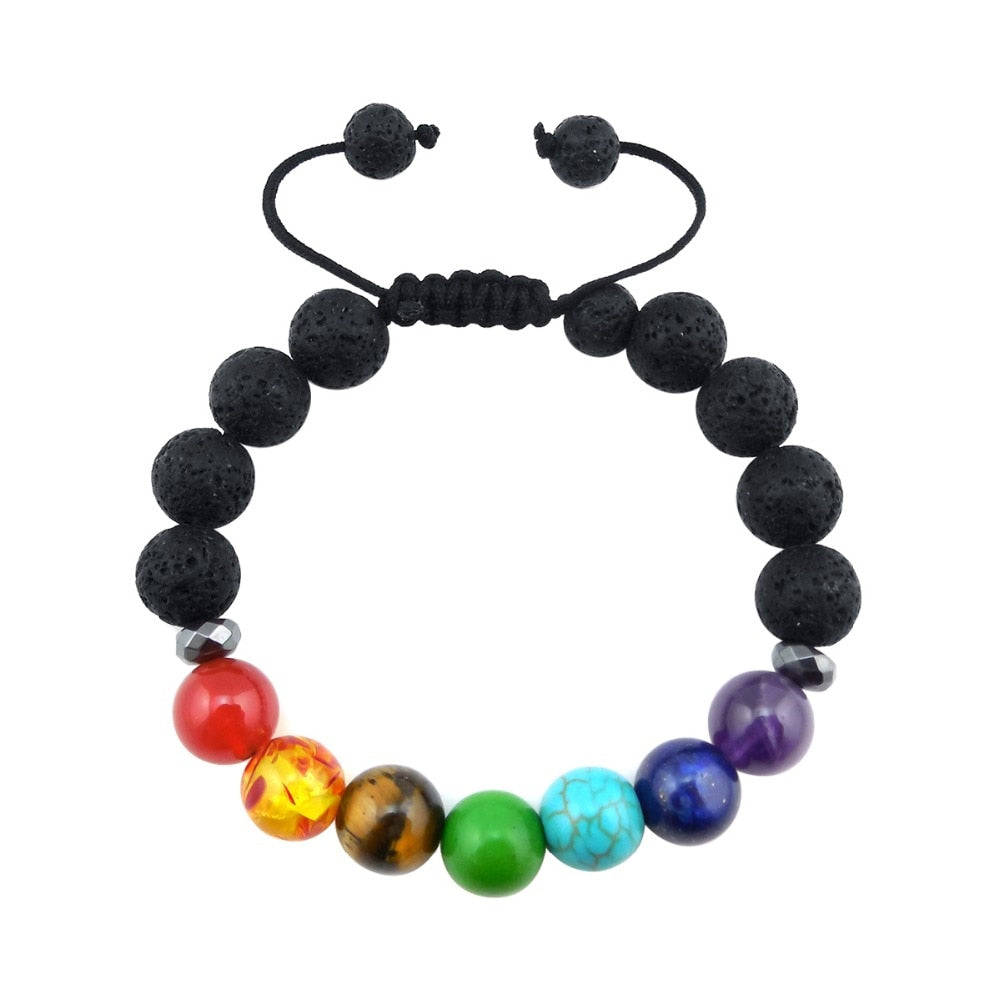 Kids Size Adjustable Chakra Diffuser Bracelet