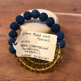 Champagne and Blue Lava Wrap Diffuser Bracelet