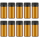 1ml/2ml/3ml Mini Amber Glass Sample Bottles - 10 pc