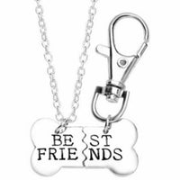 "Necklace & Charm ""Best Friends"""
