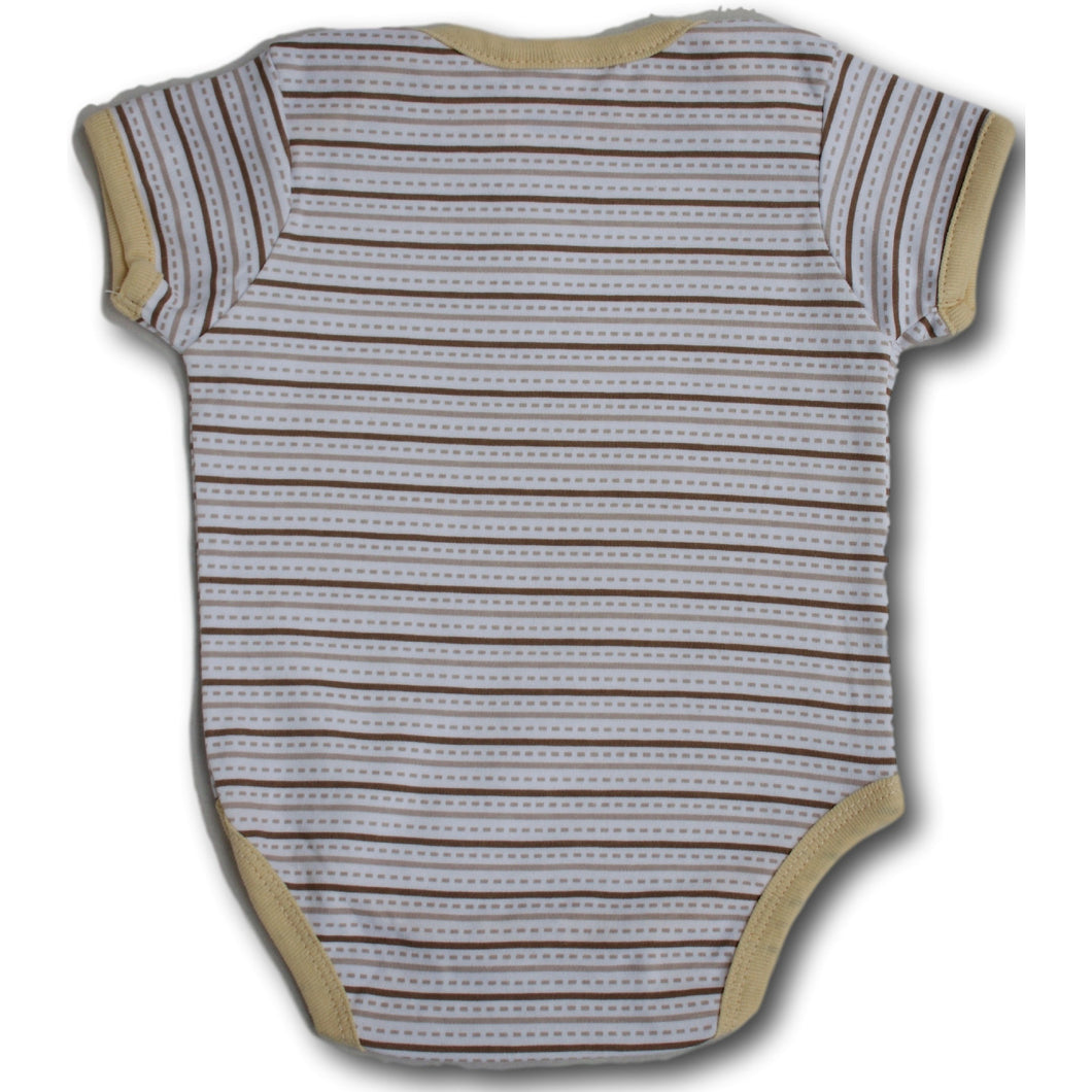 Brown Stripy Bodysuit - A Little Kiddie