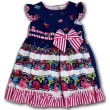 Blue Rose Dress - A Little Kiddie