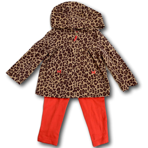 2 Piece Leopard Jacket and Pants - A Little Kiddie