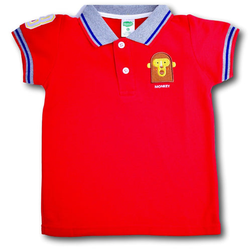 Monkey Polo Shirt - A Little Kiddie
