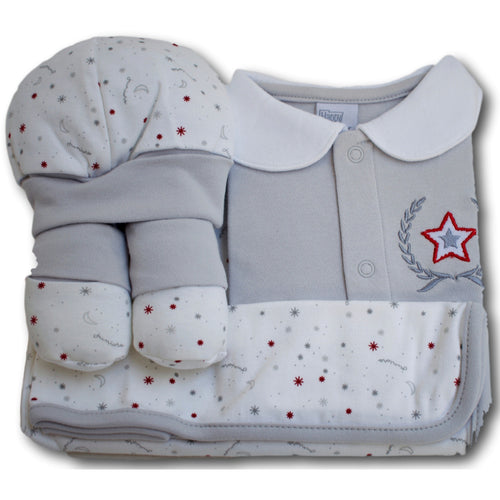 Stars 4 Piece Baby Set - A Little Kiddie
