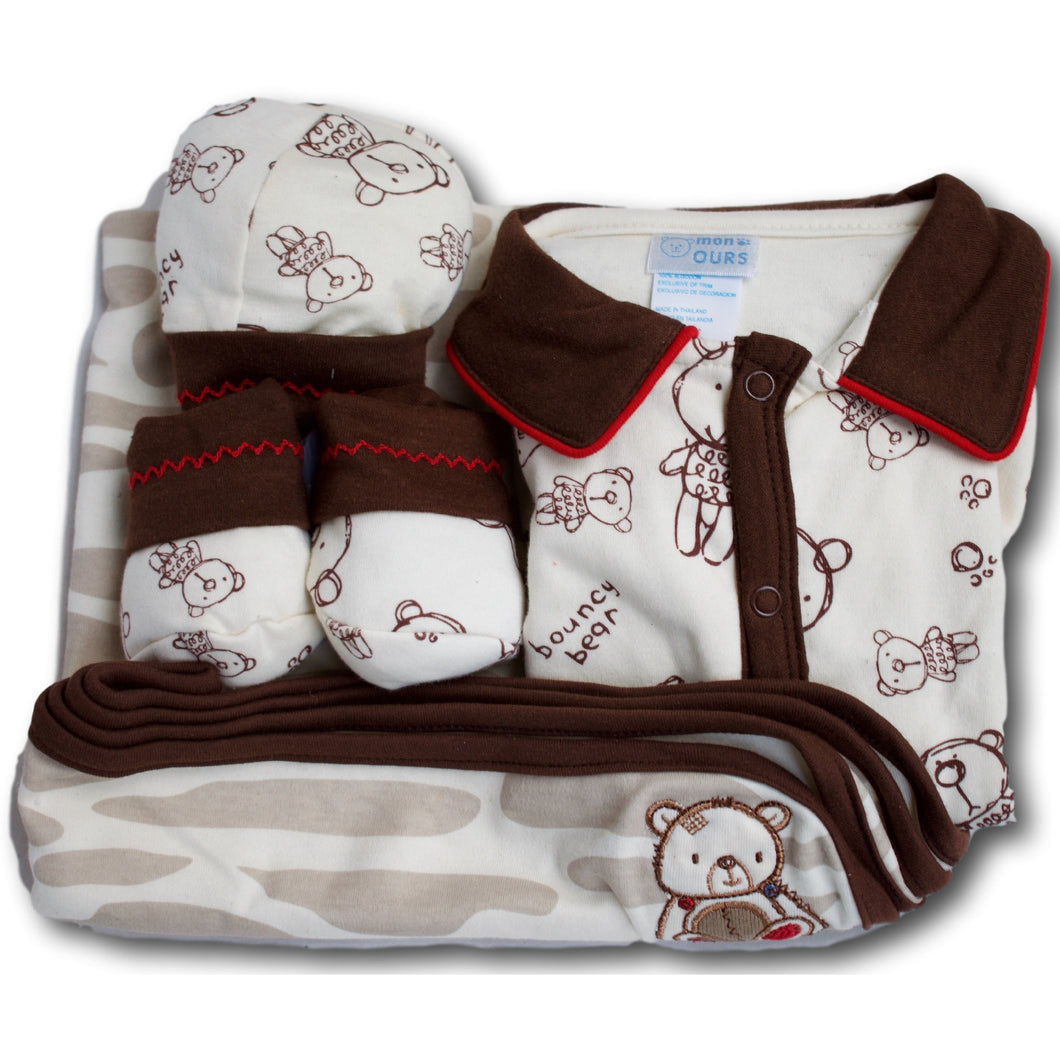 Bouncy Bear 4 Piece Baby Set - A Little Kiddie
