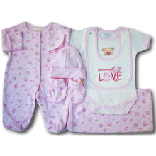 Sweet Bear 6 Piece Baby Gift Set - A Little Kiddie
