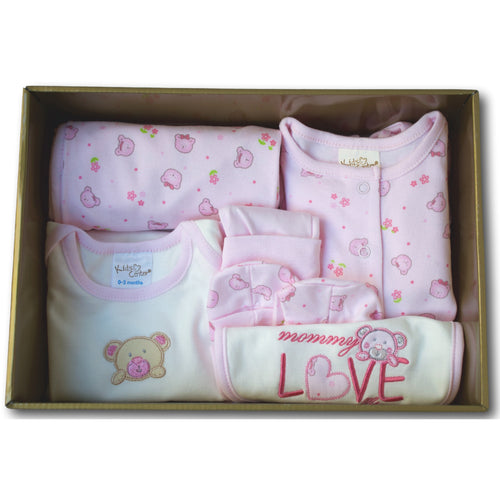 Sweet Bear 6 Piece Baby Hamper - A Little Kiddie