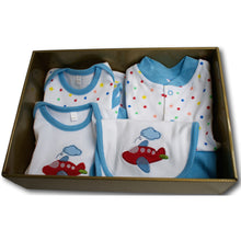 Plane & Star 6 Piece Baby Hamper - A Little Kiddie