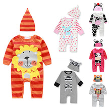 2 pcs Super Cute Animal Baby Set With Coverall Bodysuit + Hat For 9 - 24M
