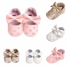 Love Heart PU Leather Baby Moccasins Soft Shoes