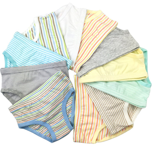 9 Pcs/Lot 2-8Y Boys & Girls Organic Cotton Underwear - A Little Kiddie