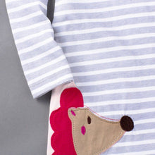 Cute Animal Embroidery Long Sleeve Dress - A Little Kiddie
