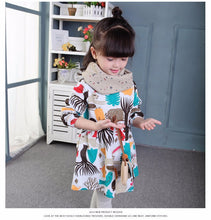 Long Sleeve Animals Graffiti Dress