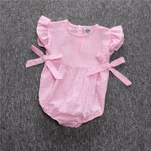Stripy and Bows Baby Romper