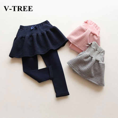 V-TREE Bow Skirt Pants