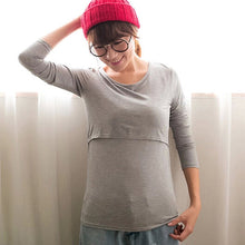Sweet Milk Long Sleeves Maternity Tee Top - A Little Kiddie