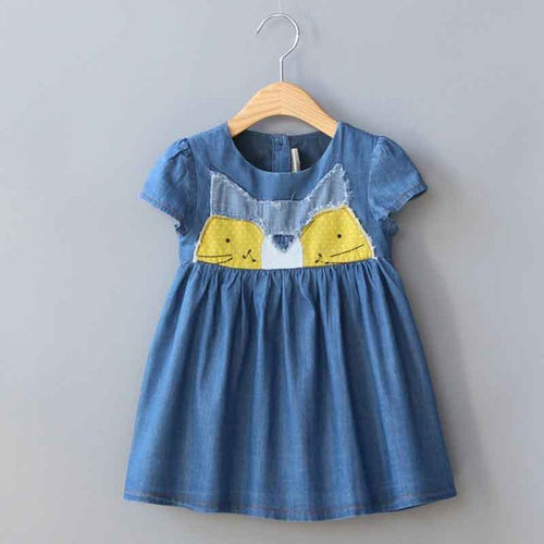Little Raccoon Denim Dress